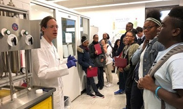 Loughlin students participate in  Chemistry Day at Brooklyn College.