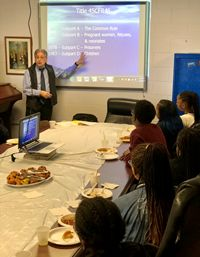 Biomedical Scientist Dr. Michael Belotto '72 Speaks to Students